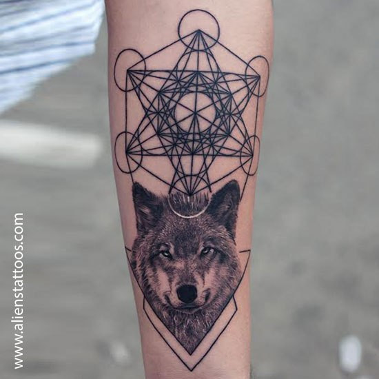 Metatron's Cube With Wolf Customised designs