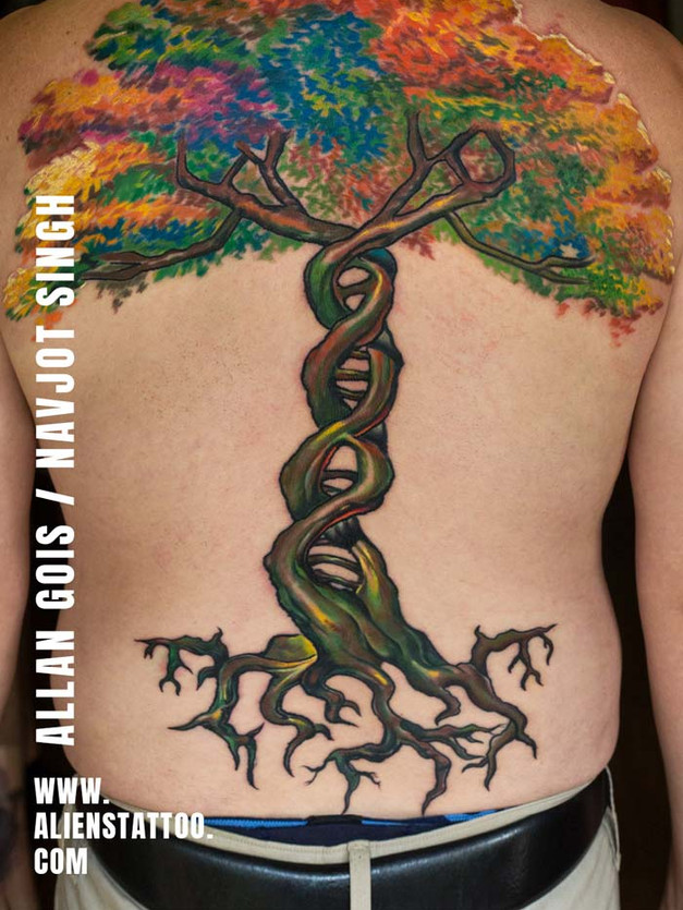 Tattoo  by Allan Gois and Navjot Singh at Aliens Tattoo