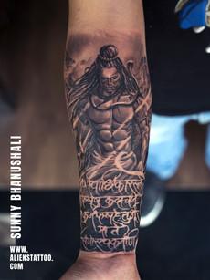 Fury of Shiva Tattoo Realistic Religious Tattoo