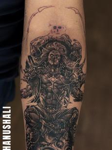 Astonishing Shiva Tattoo | Aliens Tattoo