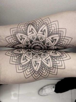 Couple Mandala Tattoo