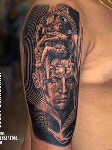 Natraj Lord Shiva Tattoo | Aliens Tattoo