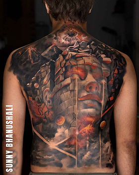 realistic-back-piece-tattoo