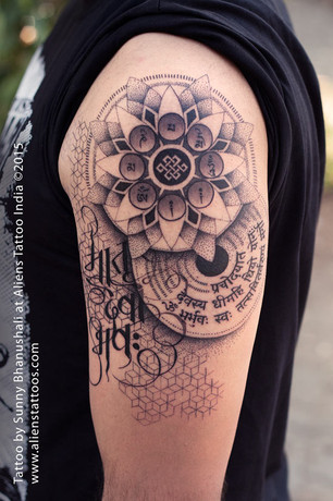 Dotwork Mandala Tattoo