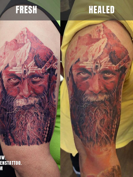 Healed-sunny-red-aghori-color-portrait-I