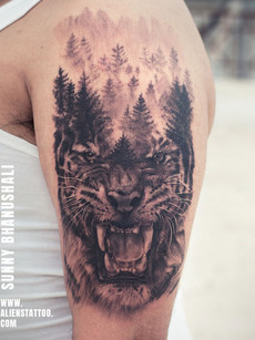 Hyper Realstic Tiger Tattoo by Sunny Bhanushali