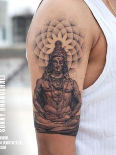 Shiva Tattoo Meditating | Sunny Bhanushali