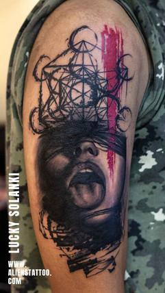 Girl-trash-tattoo-by-lucky-solanki-aliens-tattoo