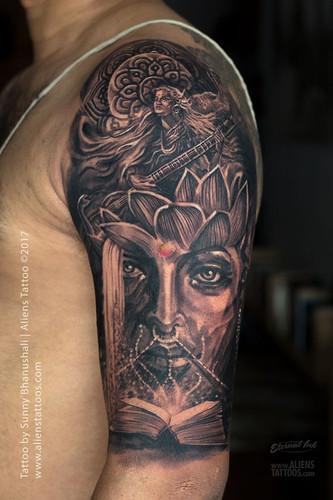 Goddess Saraswati Tattoo