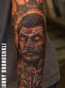 Shiva Tattoo By Sunny Bhanushali | Aliens Tattoo