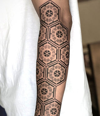 Geometric Tattoo By Aliens Tattoo