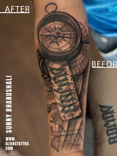 Extension Tattoo Compass Nautical By Sunny Bhanushali