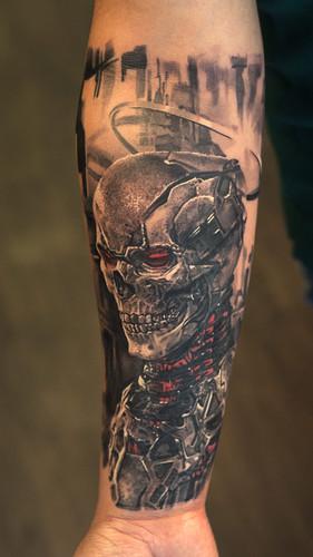 Biomech Skeleton Tattoo (Skull Tattoo)