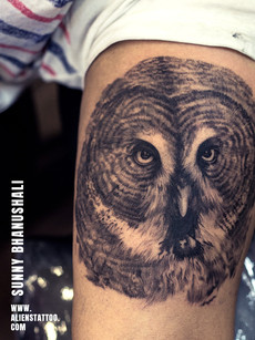Realistic Owl Tattoo | Aliens Tattoo