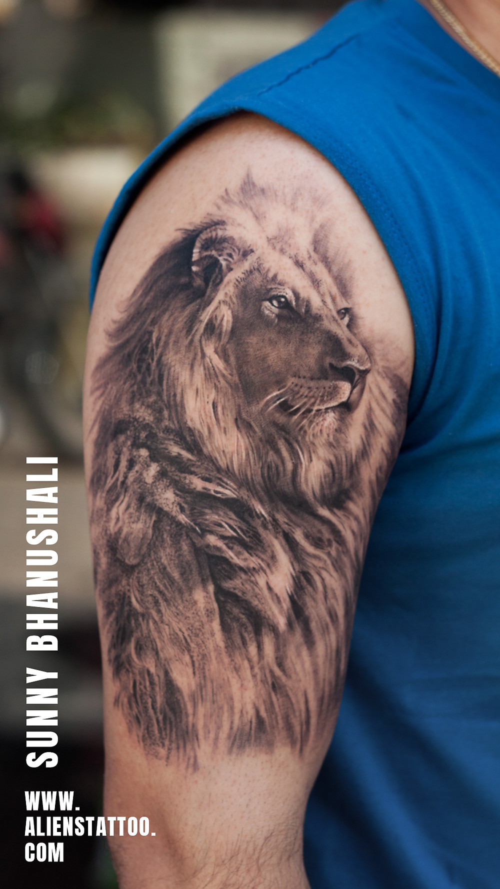 Lion Tattoo - Animal Tattoo - Aliens Tattoo