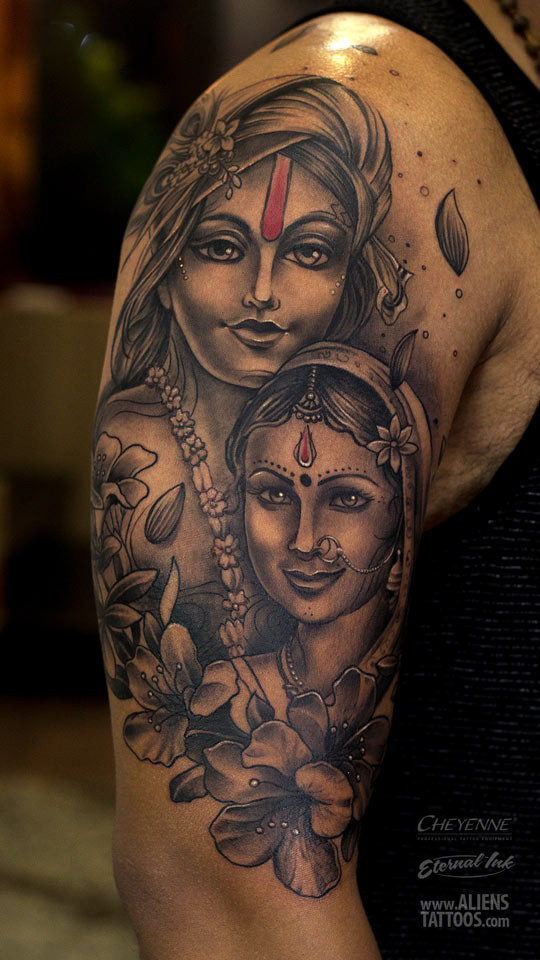 Radha – Krishna Portrait Tattoo