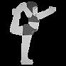 Flexible woman doing yoga