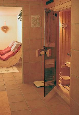 Saunabereich im Keller