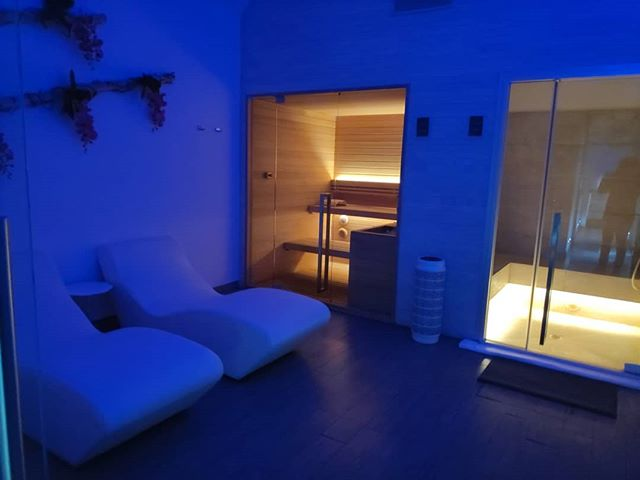 The #sauna area we designed for' our fav