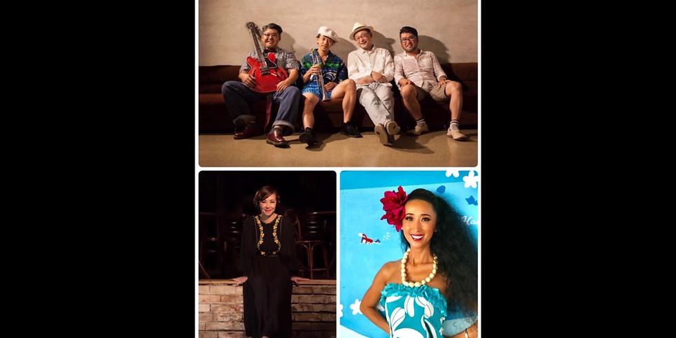 "Blue Moon Quartet feat.Miho Ogura(Hula) Yoshie Sakamoto(vo) Blue Moon Quartet presents ""ひと夏のまぼろし"" @中目黒楽屋/  配信あり"