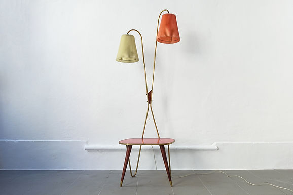 Vintage Table & Lamp, 1950s