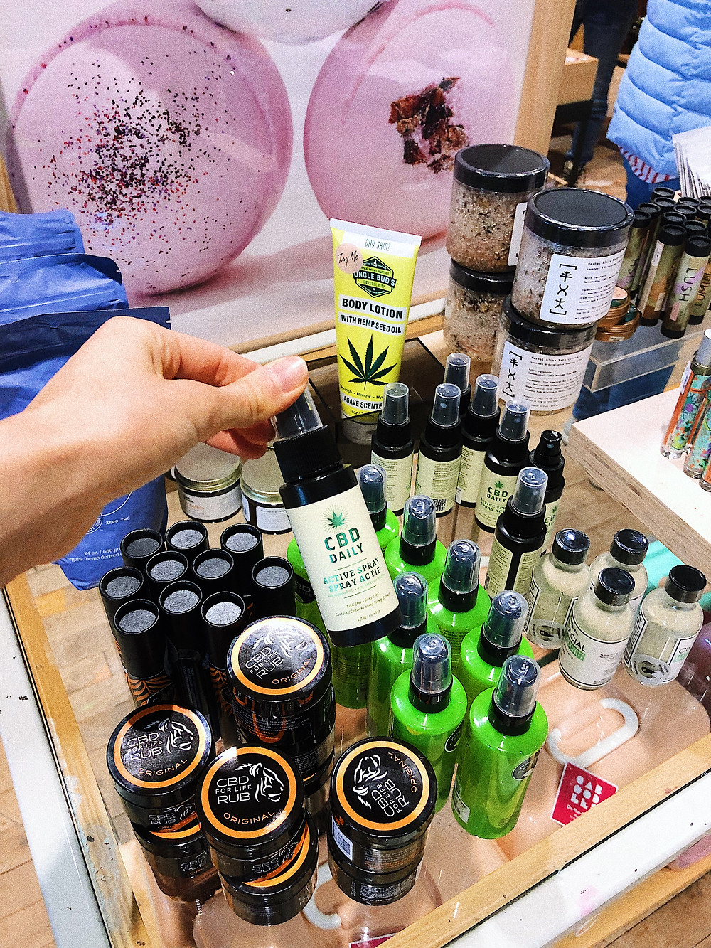 CBD Product at Urban Outfitters