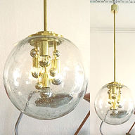 Large Sputnik Bubble Glass Pendant Lamp
