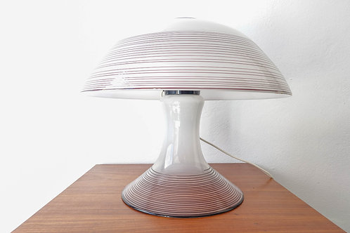 Black & White Murano Swirl Glass Table Lamp by Renato Toso for Leucos, 1970s