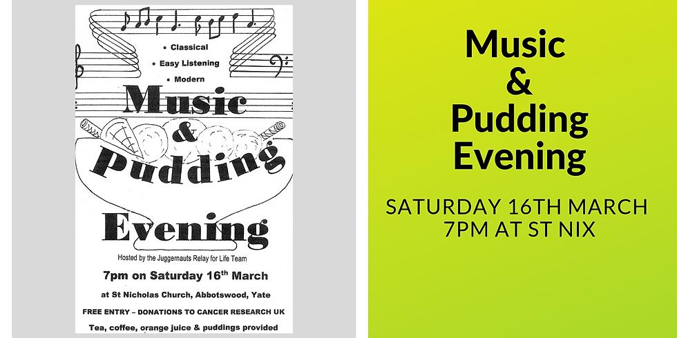 Music & Pudding Evening