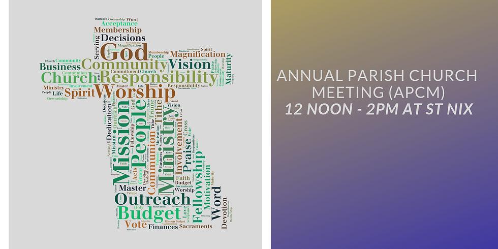 Annual Parish Church Meeting (APCM) & Parish Lunch