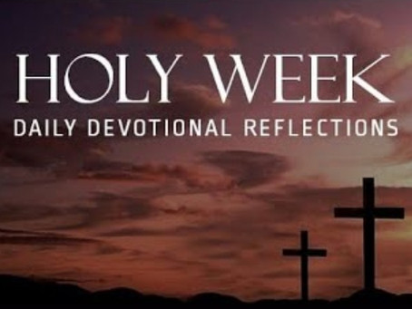Holy Week Reflections Online