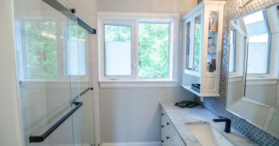 Full Shower & Vanity Backsplash