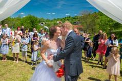 Svatební fotografie, polibek