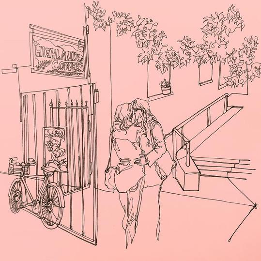 Kiss (Café Terrace)