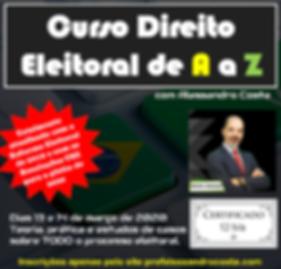 Flyer curso Direito Eleitoral de A a Z.P