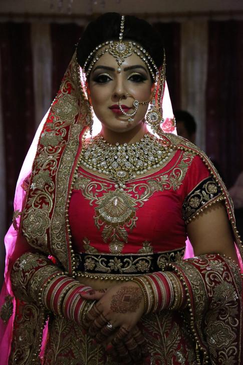 Portrait View of Bride