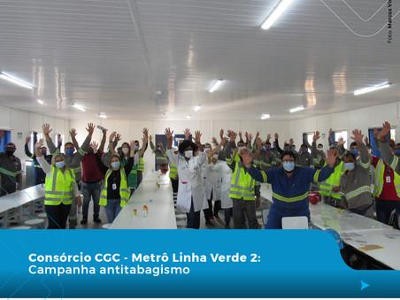 Colaboradores de Consórcio da CRASA participam de campanha contra o tabagismo