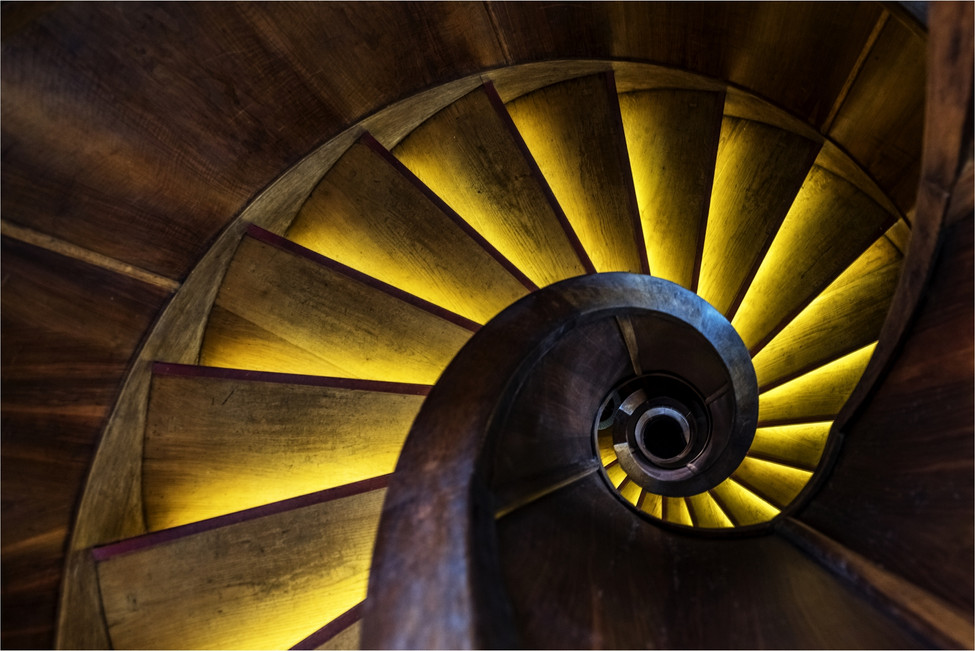 Yellow Dream-Wooden stairs-Wooden spiral