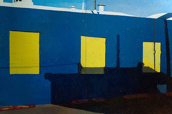 Building No.30 48x72, oil on panel, $970