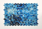 breath castles cerulean by Matthew Shlian at Michael Warren Contemporary