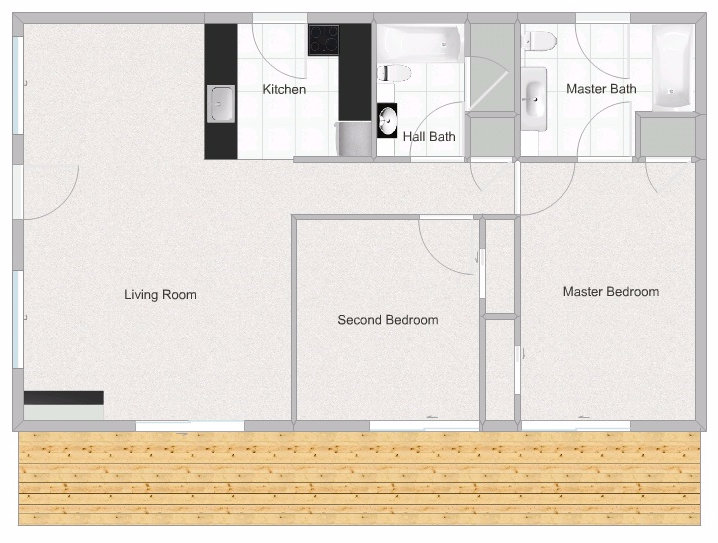 2 Bedroom 2 Bathroom Posada West Floorplan