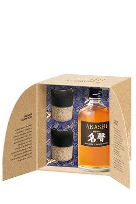 Coffret Whisky Akashi Meisei + 2 verres