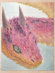 Red Poison Dragon Watercolor
