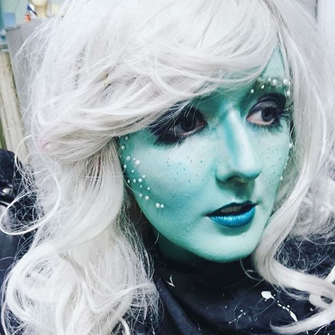 Under the Sea, mermaid inspired body paint and wig