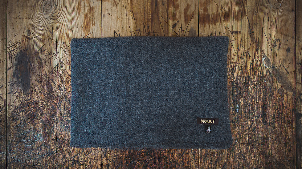 Large Dark Grey Cashmere Scarf