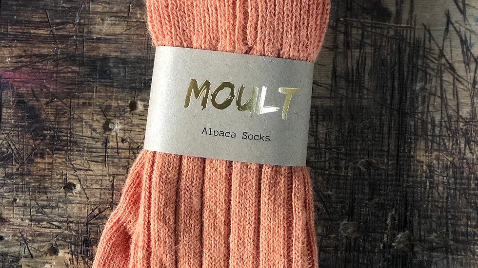 Burnt Orange Alpaca Socks