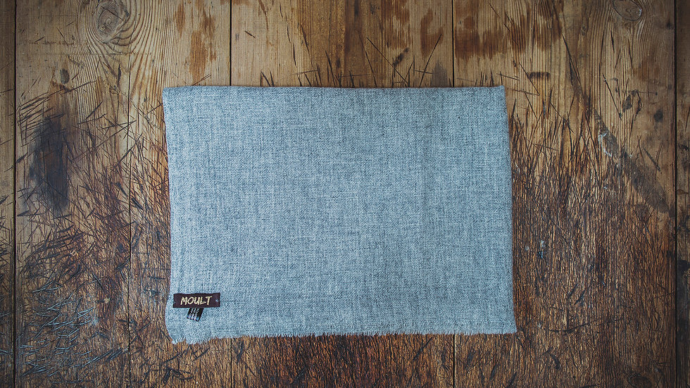 Large Plain Grey Scarf