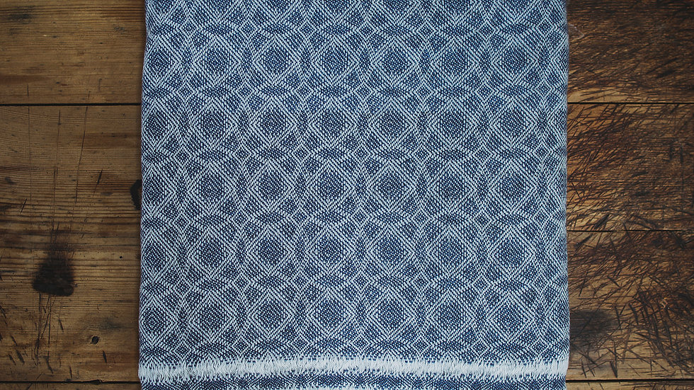 Blue Circle Fine Wool Throw