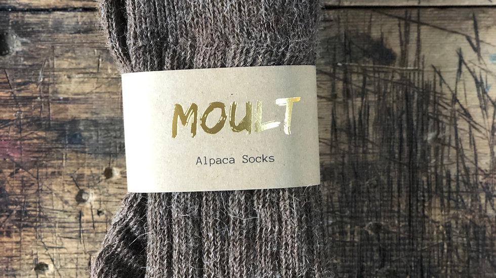 Brown Alpaca Socks