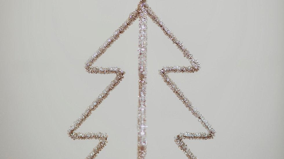 Silver Glass Beaded Christmas